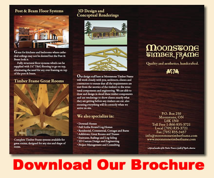 Moonstone Timber Frame Brochure